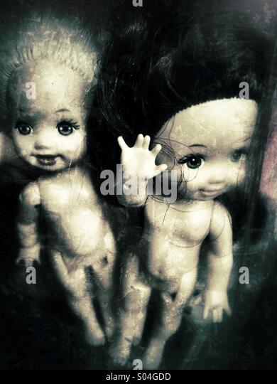 Creepy little dolls - Stock-Bilder