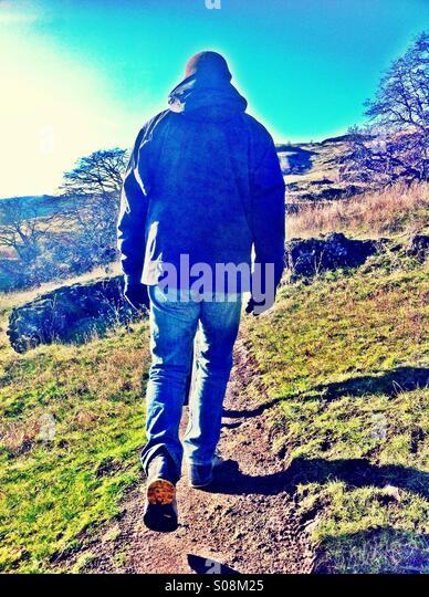Man hiking - Stock-Bilder