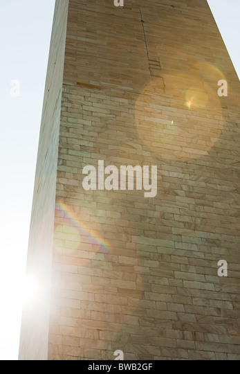 Section of washington monument, Washington DC, USA - Stock Image