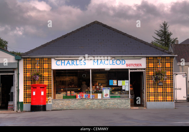 Charles MacLeod Stornoway butcher shop, Isle of Lewis, Outer Hebrides, Scotland UK - Stock Image
