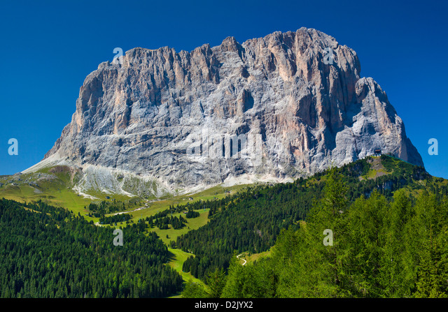 High mountain in Dolomites Italy. - Stock Image