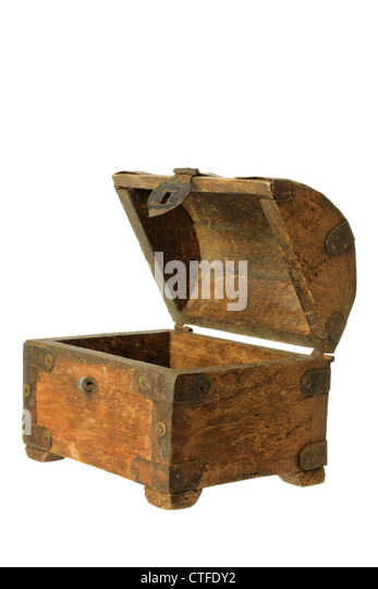 Wooden Chest - Stock Image