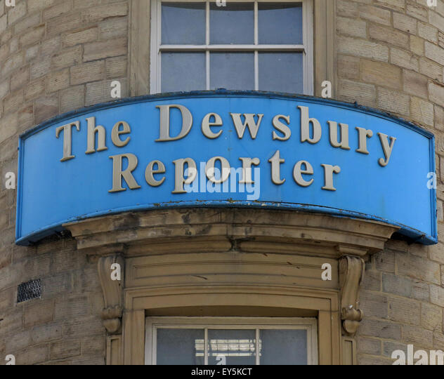 Dewsbury Reporter Offices, West Yorkshire, England, UK - Stock Image