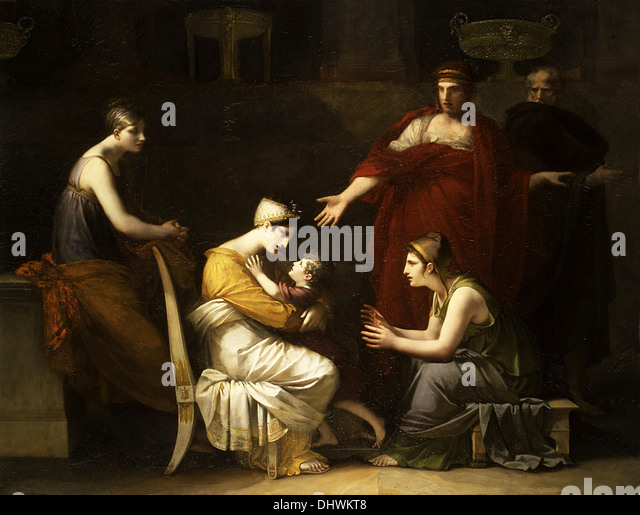 Andromache and Astyanax - by Pierre–Paul Prud'hon, 1824 - Stock Image