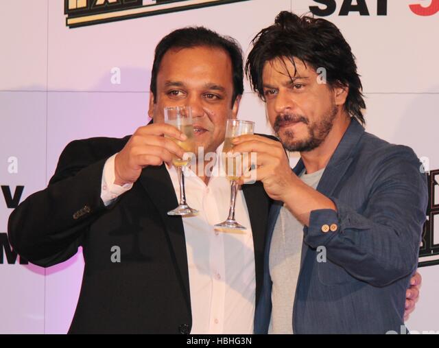Punit Goenka Entertainment Enterprises Limited Shah Rukh Khan during Zee TV's success party film Chennai Express - Stock Image