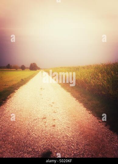 Long path ahead - Stock Image