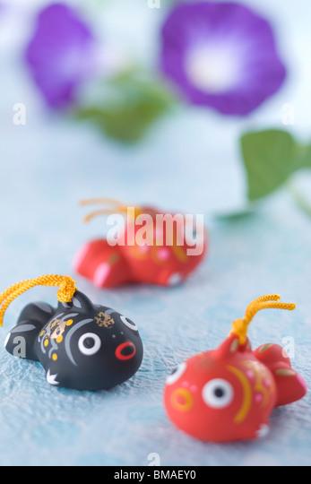 Ornament of Goldfish - Stock Image