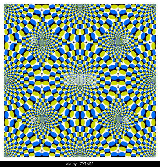 Optical illusion Spin Cycle - Stock Image