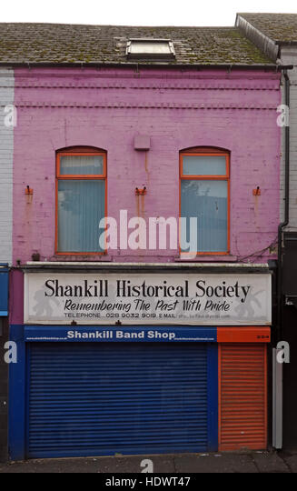Band Shop,Shankill Road West Belfast,Northern Ireland,UK - Stock Image