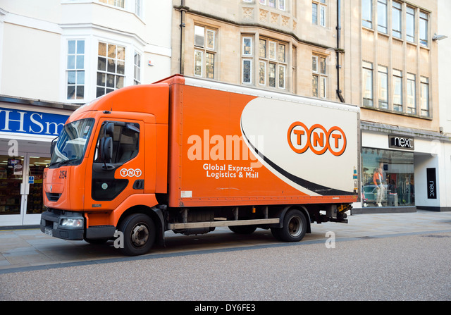 TNT delivery lorry, UK. - Stock Image