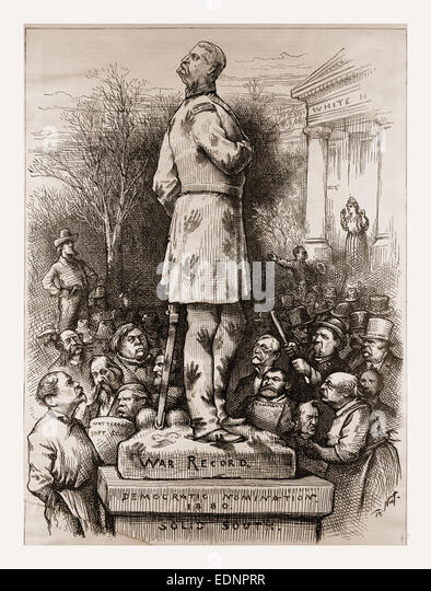 WHAT A PITY! Democratic Nomination., 1880, 19th century engraving, USA, America - Stock Image