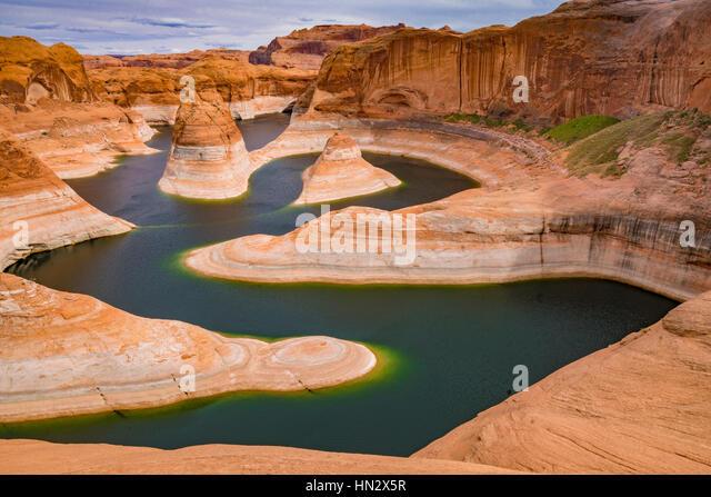 Reflection Canyon, lake Powell, Glen Canyon National Recreation Area, Utah - Stock-Bilder