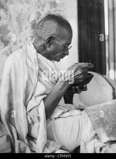 Mahatma Gandhi (b/w photograph) - Stock Image