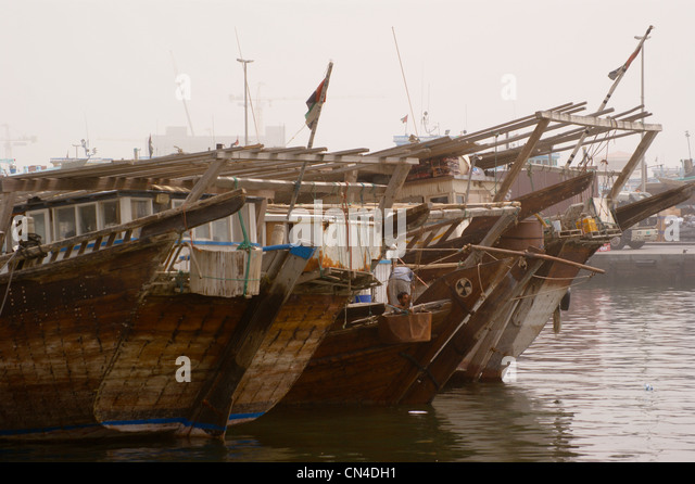 Fishing boats uae stock photos fishing boats uae stock for Fishing in dubai