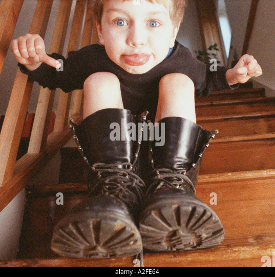 Too Small For Your Boots - Stock Image