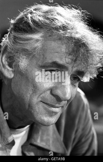 Leonard Bernstein . Portrait of the American composer by Marion S. Trikosko - Stock Image
