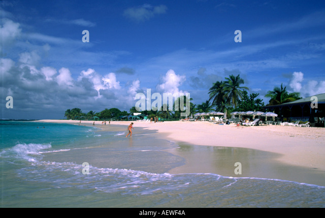 Anguilla island United Kingdom West Indies Shoal Bay beautiful beach - Stock Image