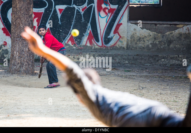 Cricket, Delhi, India - Stock Image