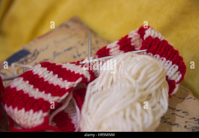 Knitting Needles Nottingham : Club scarf stock photos images alamy