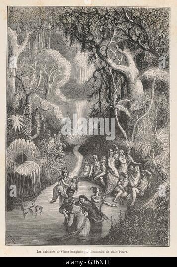 Imaginary inhabitants of the planet Venus, as conceived by  Bernardin de Saint-Pierre in 'Harmonies de la Nature'. - Stock Image