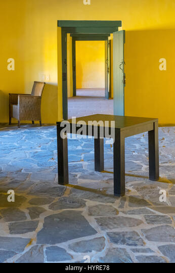 Yellow rooms - Stock Image