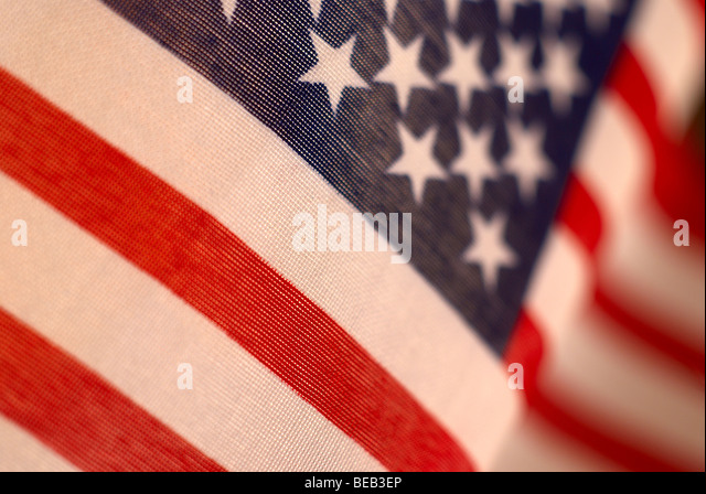 American flag, flag, USA, 4th of July, Independence day, America, American, independence, decoration, pennant, focus, - Stock Image