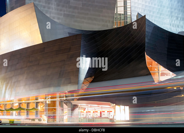 Walt Disney Concert Hall in Los Angeles, California - Stock Image