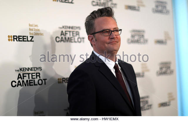 Cast member Matthew Perry poses at the premiere for the television series 'The Kennedys After Camelot' at - Stock-Bilder