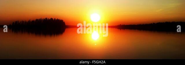 A beautiful sunset photo over lake,dreamy state. - Stock Image