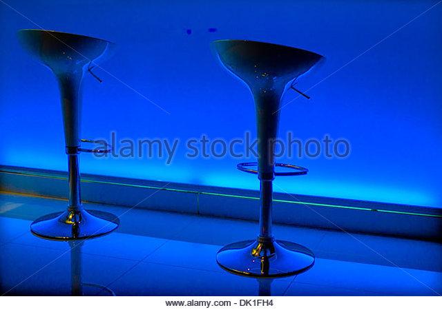 Blue Stools, Bangkok, Thailand. - Stock Image
