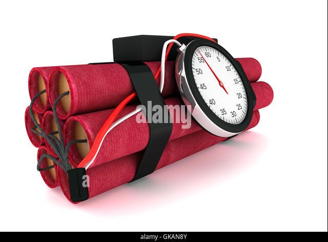 danger bomb dynamite - Stock Image