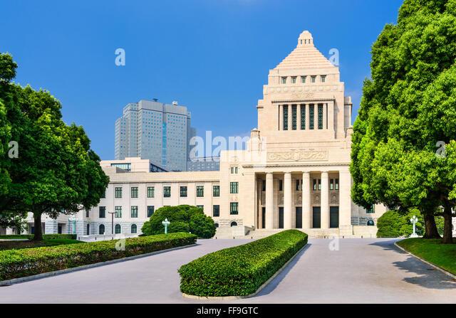 Japanese Diet House in Tokyo, Japan. - Stock Image