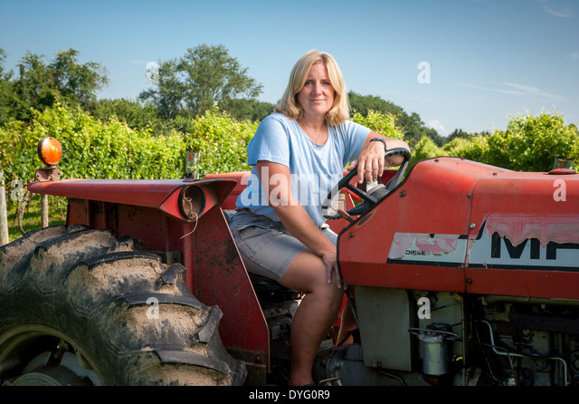 Female Farmer Tractor Stock Photos & Female Farmer Tractor ...