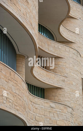 Waveshaped architecture - Stock Image