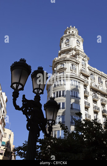 Modernisme buildling´ in old city center of Valencia, Spain - Stock Image