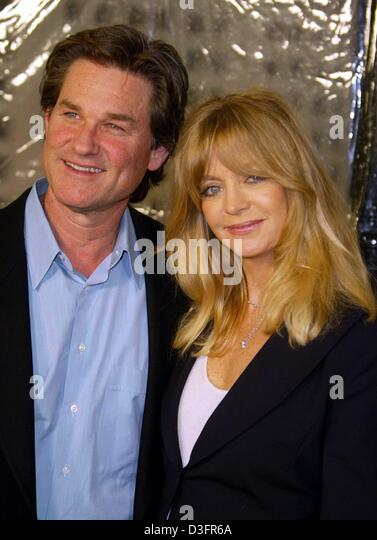 (dpa) - Hollywood couple Kurt Russel and Goldie Hawn smile ahead of the premiere of Russel's new film 'Dark - Stock Image