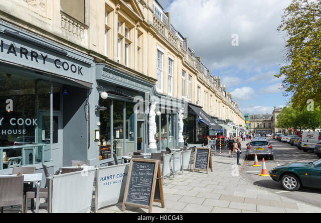Bars and restaurants in Montpellier Walk in Cheltenham - Stock Image