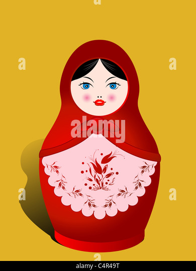 Russian nesting doll - Stock Image