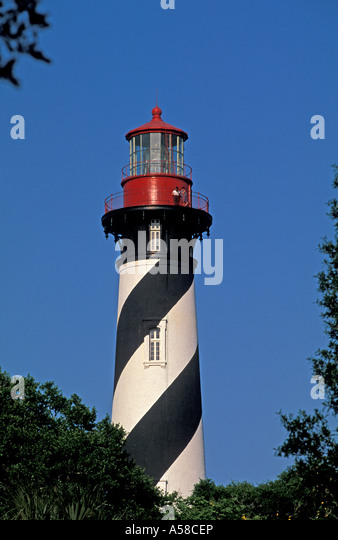 St Augustine Florida fl lighthouse tower - Stock Image