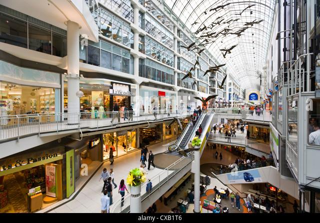 Toronto Eaton Centre Shopping Mall, Toronto, Ontario, Canada, North America - Stock Image