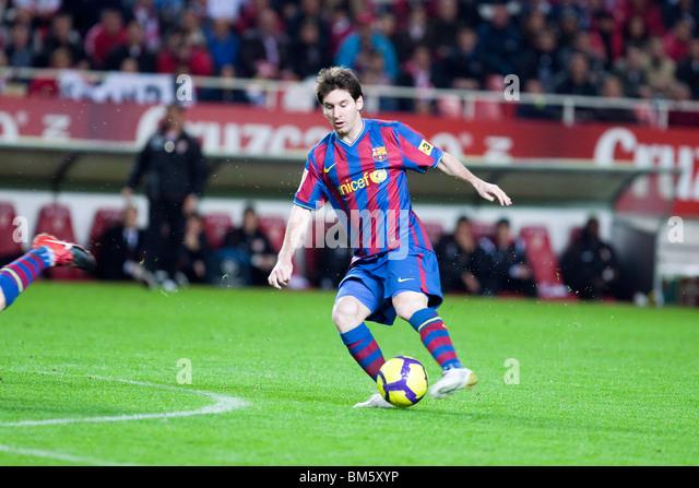 Footballer Lionel Messi Stock Photos & Footballer Lionel ...