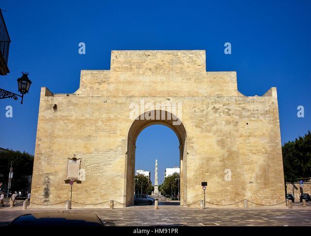 Porta Napoli (Napoli gate). Lecce, Apulia, Italy - Stock Image