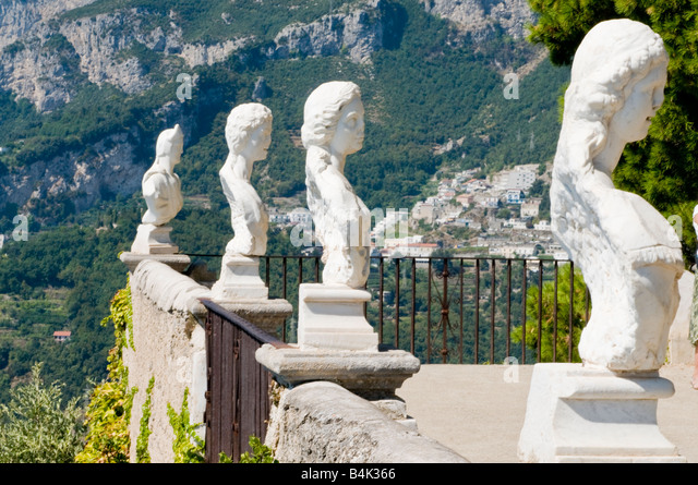 Terrace infinity villa cimbrone ravello stock photos for Terrace of infinity