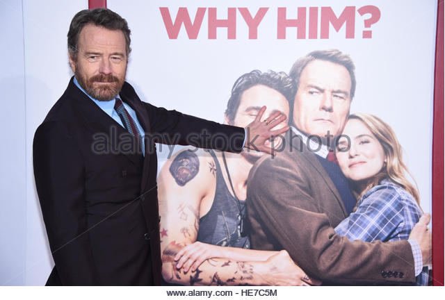 Cast member Bryan Cranston attends the premiere of 'Why Him?' in Los Angeles, California, U.S. December - Stock-Bilder