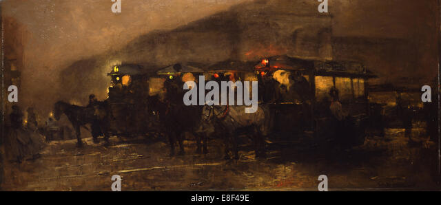 Evening at Square. Artist: Breitner, George Hendrik (1857-1923) - Stock Image