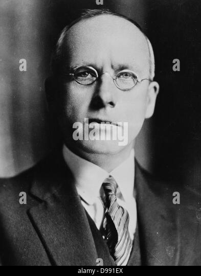 Right Honourable Peter Fraser (1884–1950) Prime Minister of New Zealand 1940–1949. Born in Scotland, unable to find - Stock Image