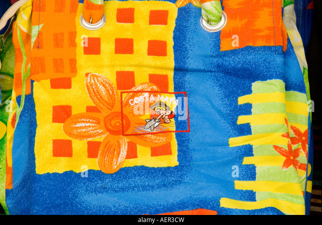 Costa Maya Mexico Mayan riviera colorful woman's handbag souvenirs shopp ing - Stock Image