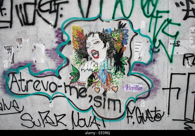 Street art in the Brazilian city of Sao Paulo. - Stock Image