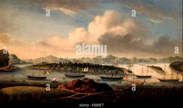 The Anchorage, Whampoa, China, circa 1850 - Stock-Bilder
