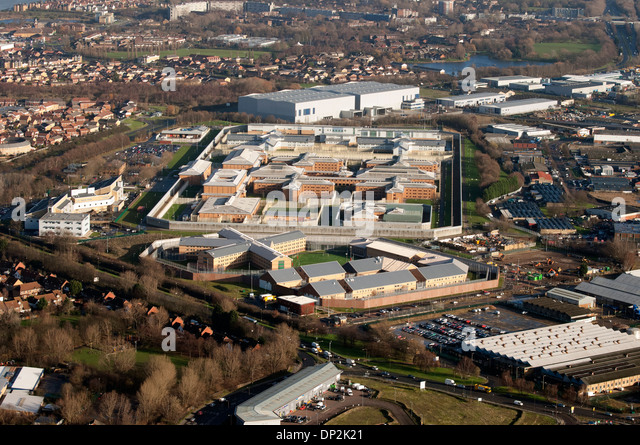 Belmarsh High Security Prison  in East London as seen from the air. - Stock Image